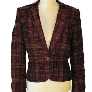 Cashe Size 4 Burgundy Brown Blazer